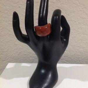 Quartz Brown Stone Ring